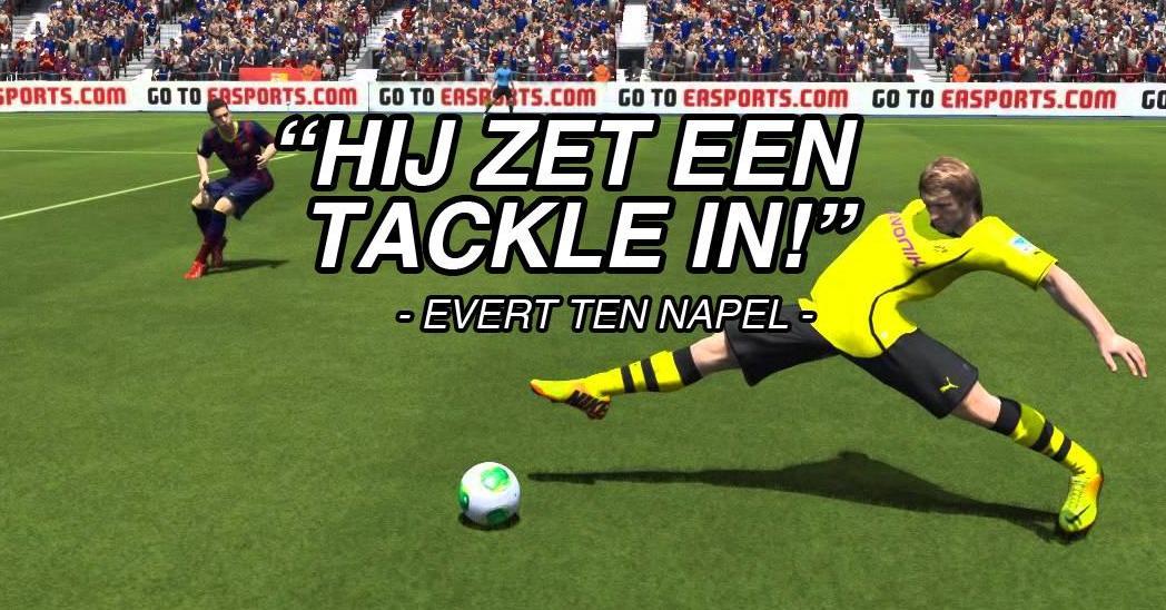 Evert ten Napel en Youri Mulder als commentatoren bij FIFA