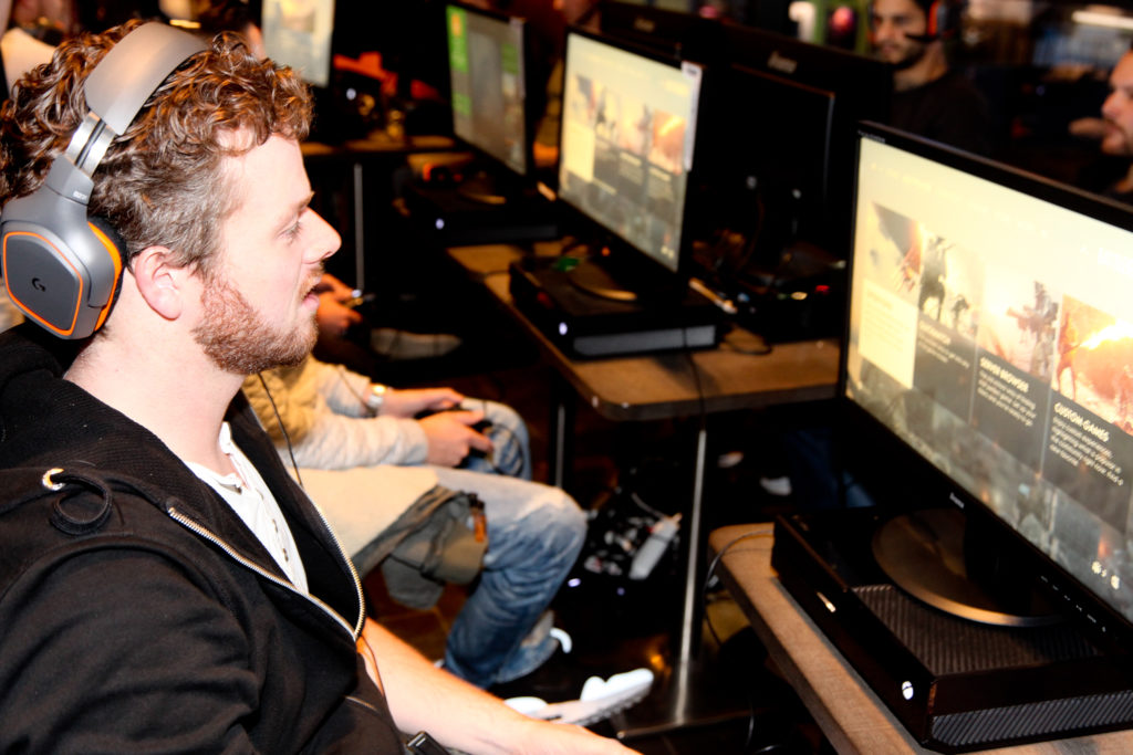 Redacteur Niels bij het BF1 VIP event